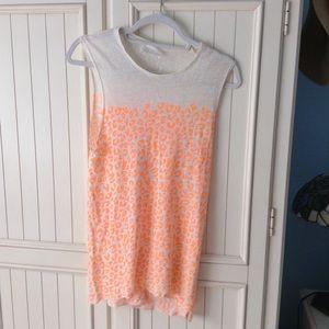 ❤️SALE ITEM 3 for 18$❤️Tank offwhitepeachy orange
